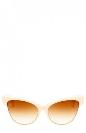 Солнцезащитные очки Dita. Цвет: бежевый