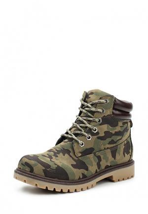 Ботинки Ideal Shoes. Цвет: хаки