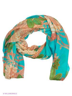 Палантин Michel Katana. Цвет: бирюзовый, бежевый, оранжевый, зеленый