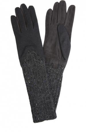 Перчатки Agnelle. Цвет: темно-серый