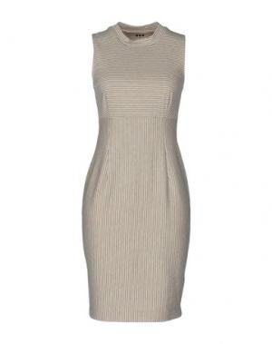 Короткое платье THREE DOTS. Цвет: светло-серый