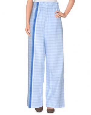 Повседневные брюки AVN. Цвет: небесно-голубой