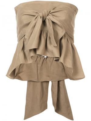 Топ с многофункциональными завязками Twyla Apiece Apart. Цвет: коричневый