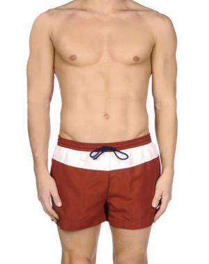Шорты для плавания SUIT. Цвет: красно-коричневый