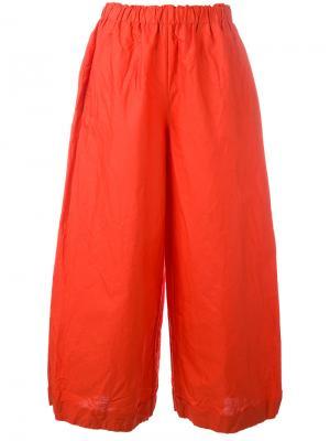 Flared trousers Daniela Gregis. Цвет: красный