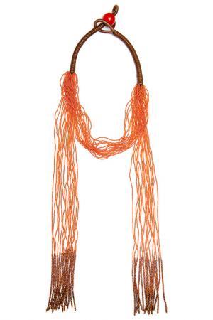 Колье Jaffrey de Marenta. Цвет: оранжевый, коричневый