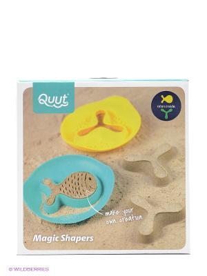 Формочка для песка, 3 шт. Quut. Цвет: голубой, желтый