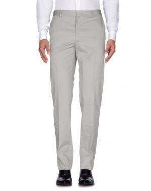 Повседневные брюки GIULIANO FUJIWARA. Цвет: светло-серый