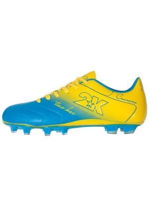 Футбольные бутсы Cruzeiro 2K. Цвет: голубой, желтый