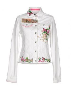 Джинсовая верхняя одежда MANUEL LUCIANO. Цвет: белый