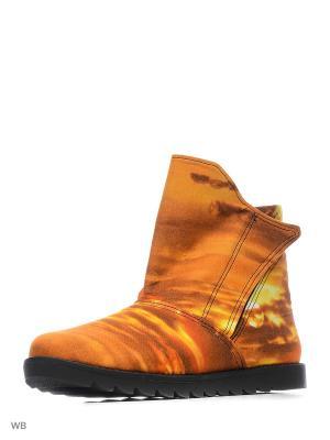 Ботинки AZ-ART. Цвет: оранжевый