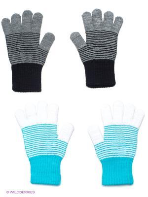 Перчатки, 2 пары FOMAS. Цвет: серый, голубой
