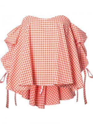 Блузка в клетку Caroline Constas. Цвет: красный