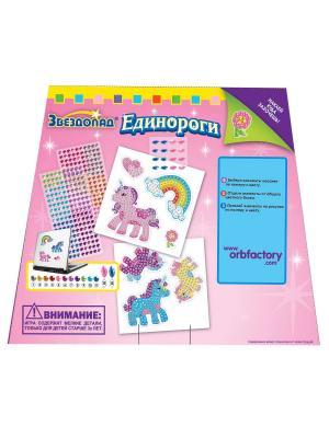 The ORB Factory. Мозаика-наклейки Единороги (7 шт.) factory. Цвет: розовый, голубой, фиолетовый