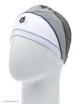Шапочка для плавания LONG HAIRS Adult Lycra Mad Wave. Цвет: серый, темно-серый, белый