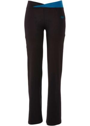 Спортивные брюки-стретч (черный) bonprix. Цвет: черный