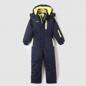 Комбинезон лыжный с капюшоном, 3-12 лет R essentiel. Цвет: синий морской