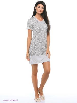 Ночная сорочка ARDI. Цвет: серый