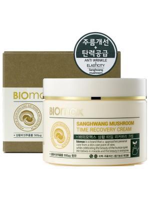 Антивозрастной крем с экстрактом гриба санхван BIO max. Цвет: белый
