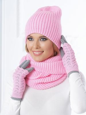 Шапка Siberika. Цвет: розовый