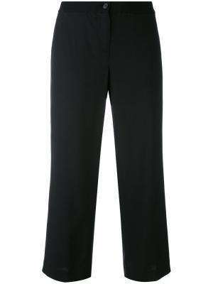 Укороченные брюки прямого кроя Aalto. Цвет: чёрный