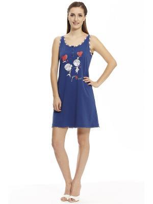 Ночная сорочка RELAX MODE. Цвет: синий