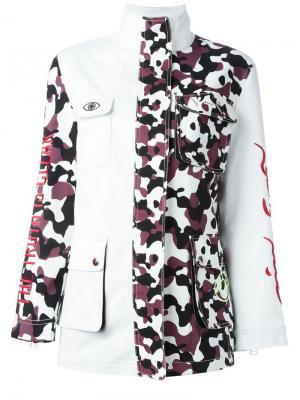 Куртка с камуфляжным принтом Nafsika Skourti. Цвет: белый