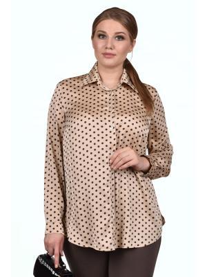 Блузка SPARADA. Цвет: коричневый, бежевый