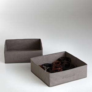 2 ящика складных La Redoute Interieurs. Цвет: антрацит,серо-коричневый