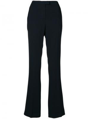 Расклешенные брюки с завышенной талией Les Copains. Цвет: чёрный