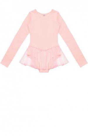 Боди с прозрачной юбкой Deha. Цвет: розовый