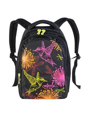 Рюкзак Grizzly. Цвет: черный, фиолетовый