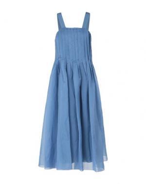 Длинное платье TIBI. Цвет: лазурный