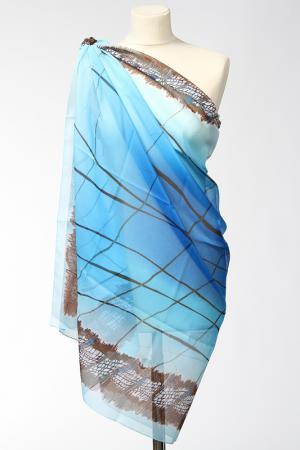 Парео Frantelli. Цвет: голубой, синий, коричневый