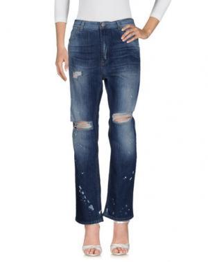 Джинсовые брюки PEPEROSA. Цвет: синий
