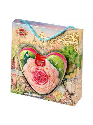 Чай Hilltop Молочный оолонг 80г., сердце Чайная роза в футляре. Цвет: зеленый