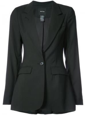 Пиджак с молниями на рукавах Smythe. Цвет: чёрный