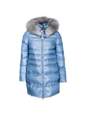 Пальто Snow Guard. Цвет: голубой