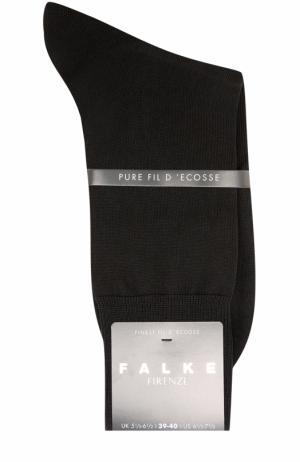 Хлопковые носки Firenze Falke. Цвет: черный