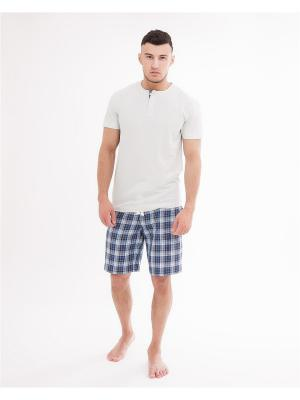 Комплект одежды: футболка, шорты Mark Formelle. Цвет: светло-голубой, молочный, синий