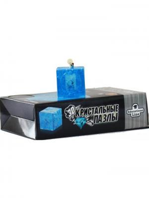Кристалл пазл Куб L Светильник New Склад Уникальных Товаров. Цвет: голубой