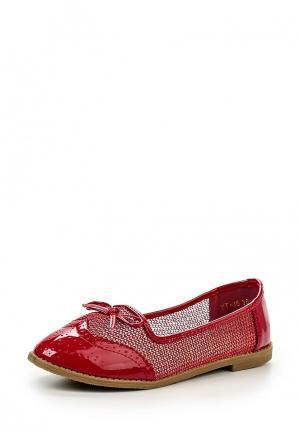Балетки WS Shoes. Цвет: красный