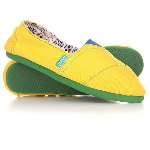 Эспадрильи  Mundial Brasil Paez. Цвет: желтый