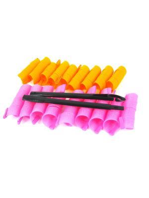 Magic Leverage Бигуди Широкие длина 30 см, ширина 2,5 18 шт.. Цвет: розовый