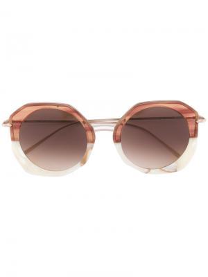 Солнцезащитные очки Donna Kyme. Цвет: телесный