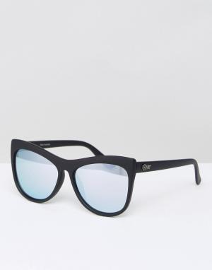 Quay Australia Солнцезащитные очки кошачий глаз Joyride. Цвет: черный