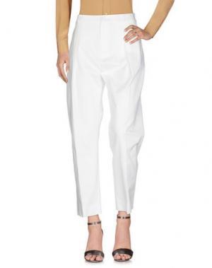 Повседневные брюки BOUCHRA JARRAR. Цвет: белый
