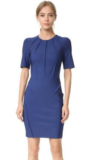 Платье с короткими рукавами Mugler. Цвет: морской синий