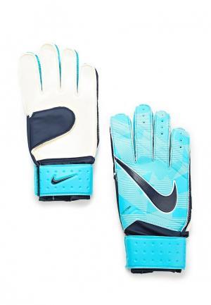 Перчатки вратарские Nike. Цвет: голубой