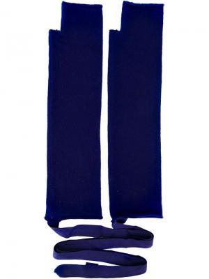 Перчатки No. 14 Extreme Cashmere. Цвет: синий